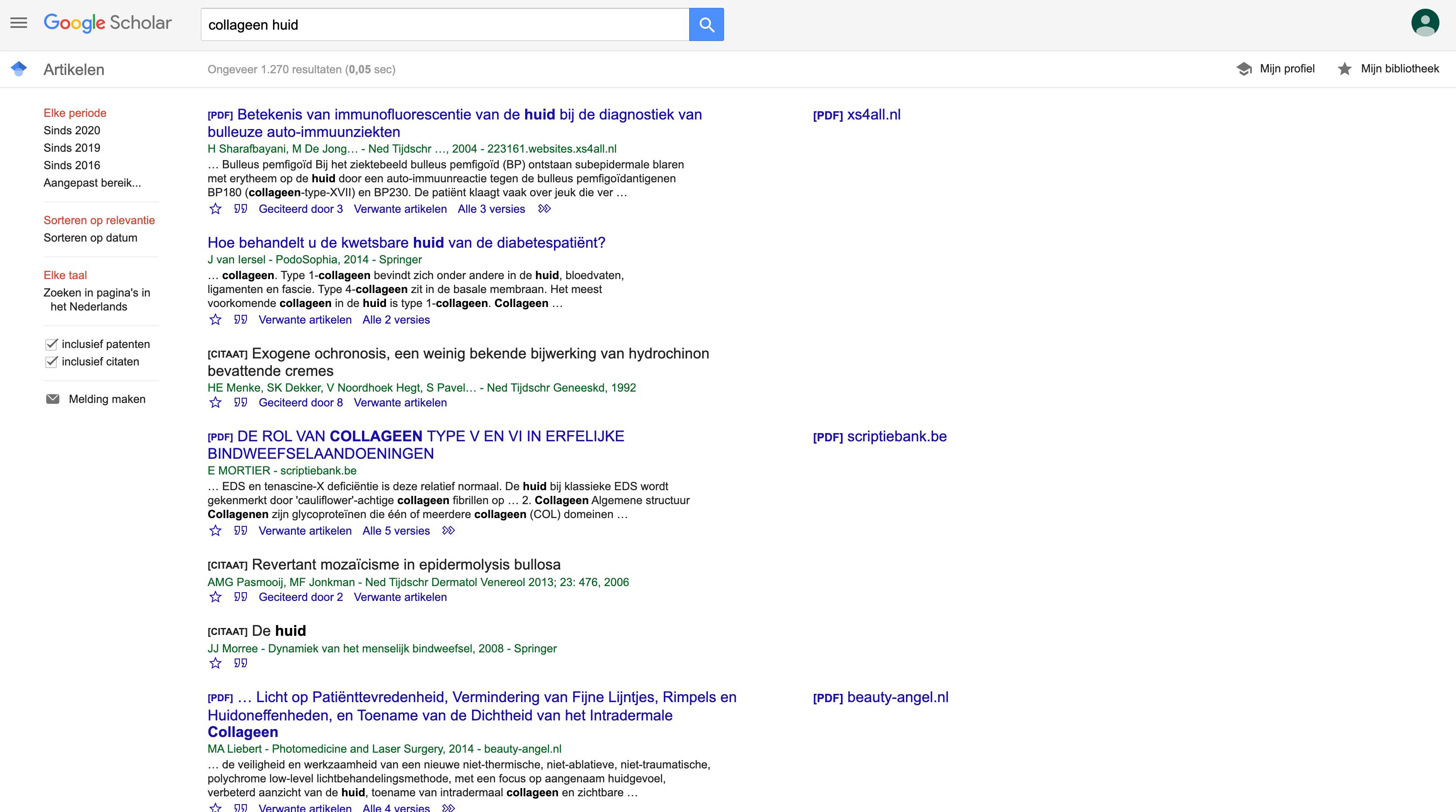 Nederlandse zoekwoorden heeft minder resultaten dan engelse